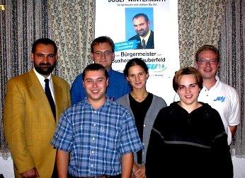 Unterstützung des Bürgermeisterkandidaten Josef Wintermayr